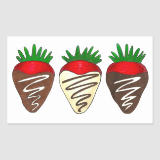 Schokolade umfaßte ErdbeerValentinsgruß-Aufkleber Rechteckiger Aufkleber