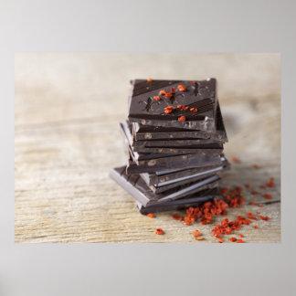 Schokolade und Chili Poster
