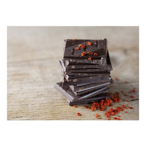 Schokolade und Chili Plakatdruck