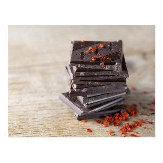 Schokolade und Chili Postkarten