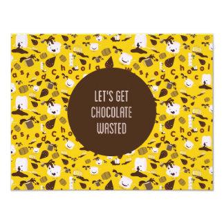 Schokolade vergeudet individuelle ankündigskarten