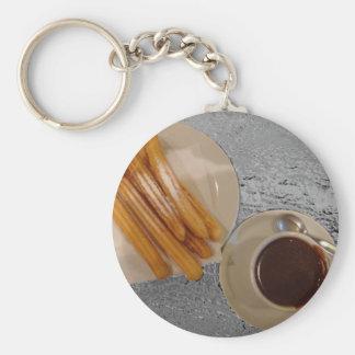 Schokolade y Churros Schlüsselanhänger