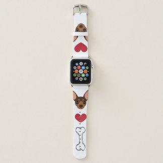 Schokolademiniaturpinscher-minimales Apple Watch Armband