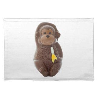 Schokoladen-Affe Stofftischset