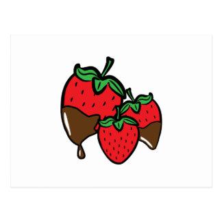 Schokoladen-Bad-Erdbeeren Postkarten