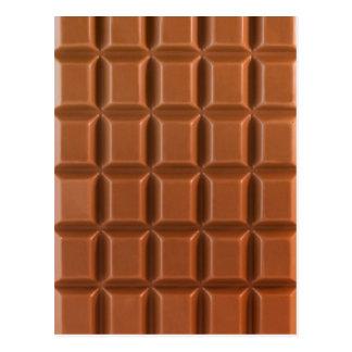 Schokoladen-Bar-Hintergrundpostkarte Postkarte
