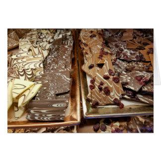 Schokoladen-Barken-Süßigkeit, Umschlag Karte