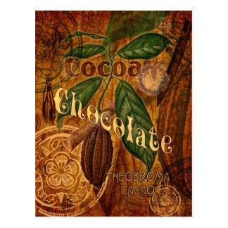 Schokoladen-Collage Postkarte