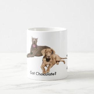 Schokoladen-Dänen sind groß Kaffeetasse
