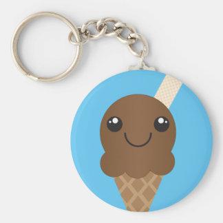 Schokoladen-Eiscreme Keychain Schlüsselanhänger