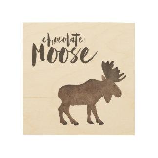 Schokoladen-Elche Holzdruck