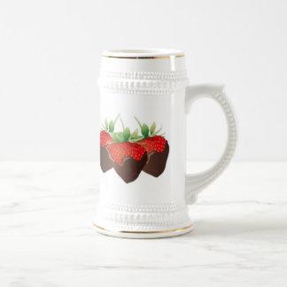 Schokoladen-Erdbeere Bierkrug