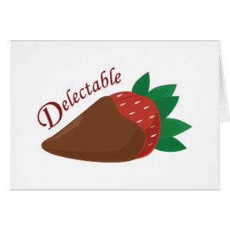 Schokoladen-Erdbeere Grußkarte