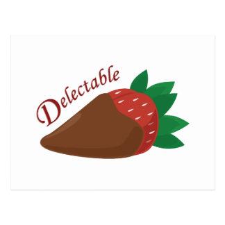 Schokoladen-Erdbeere Postkarten