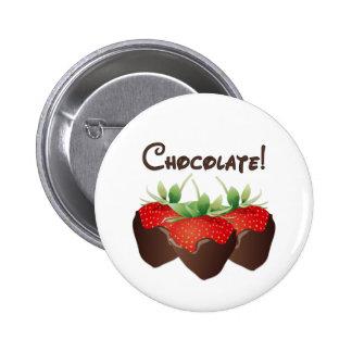 Schokoladen-Erdbeere Runder Button 5,7 Cm
