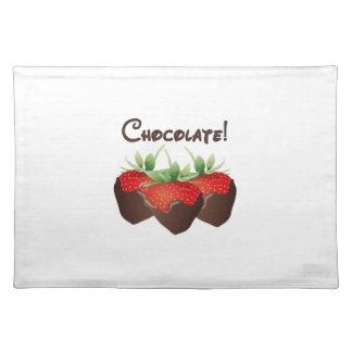 Schokoladen-Erdbeere Stofftischset