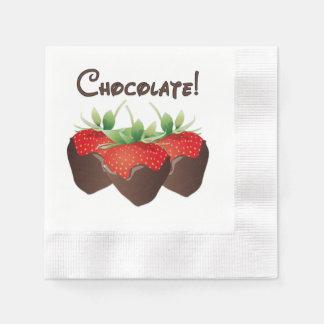 Schokoladen-Erdbeere Papierserviette