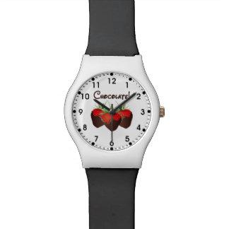 Schokoladen-Erdbeere Uhr