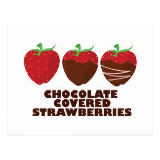 Schokoladen-Erdbeeren Postkarten