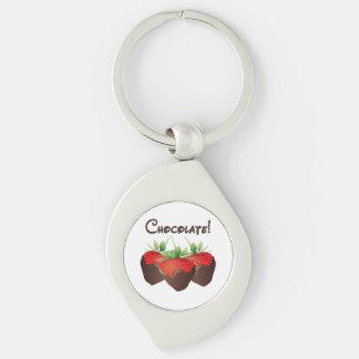 Schokoladen-Erdbeeren Schlüsselanhänger