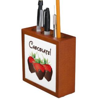 Schokoladen-Erdbeeren Stifthalter
