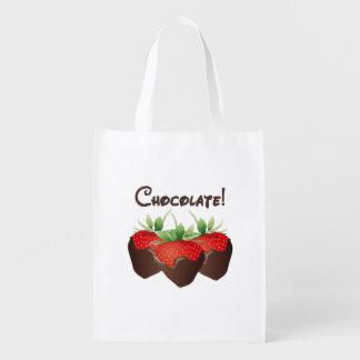 Schokoladen-ErdbeerLiebe Wiederverwendbare Einkaufstasche
