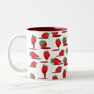 Schokoladen-Erdbeertapete Kaffeetassen