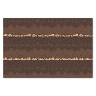Schokoladen-Geburtstags-Kuchen-Zuckerguss Seidenpapier