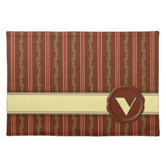 Schokoladen-Geschäfts-Monogramm - tadelloser Tischset