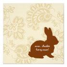 Schokoladen-Häschen Karte
