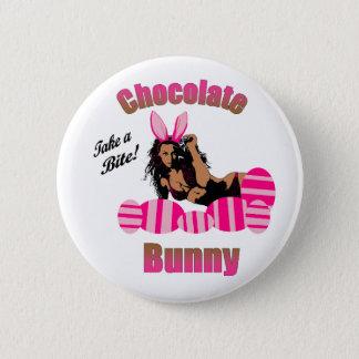 Schokoladen-Häschen-Knopf Runder Button 5,1 Cm