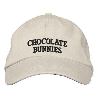 Schokoladen-Häschen-Logo-Hut Bestickte Kappe