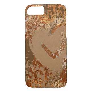 Schokoladen-Herz-abstraktes Muster iPhone 8/7 Hülle