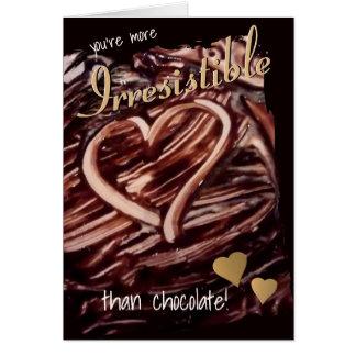 Schokoladen-Herz, das Goldherz-lustige Liebe Karte