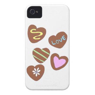 Schokoladen-Herzen iPhone 4 Case-Mate Hüllen