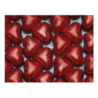 Schokoladen-Herzen Postkarte