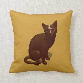 Schokoladen-Katze Kissen