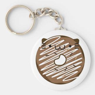 Schokoladen-Katzen-Krapfen Keychain Schlüsselanhänger