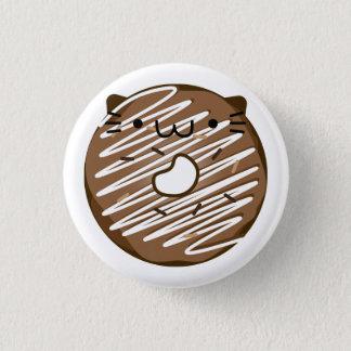 Schokoladen-Katzen-Krapfen-Knopf Runder Button 3,2 Cm