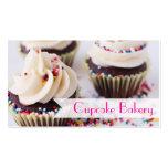 Schokoladen-kleine Kuchen besprüht Vanille-Zuckerg Visitenkarten