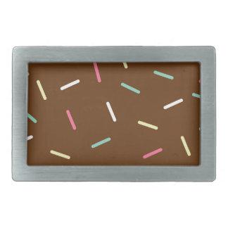 Schokoladen-Krapfen Rechteckige Gürtelschnalle