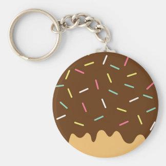 Schokoladen-Krapfen Schlüsselanhänger