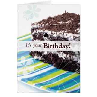 Schokoladen-Kuchen-Geburtstags-Karte Karte