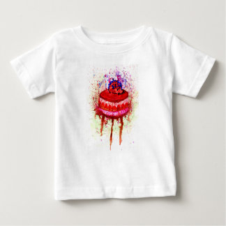 Schokoladen-Kuchen-Kunst Baby T-shirt
