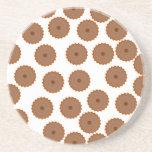 Schokoladen-Kuchen-Muster Bierdeckel