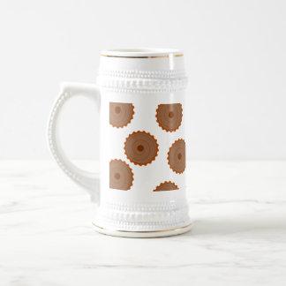 Schokoladen-Kuchen-Muster Bierglas