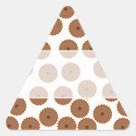 Schokoladen-Kuchen-Muster Dreieckaufkleber