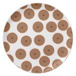 Schokoladen-Kuchen-Muster Flache Teller