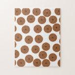 Schokoladen-Kuchen-Muster Foto Puzzles
