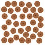 Schokoladen-Kuchen-Muster Fotoskulpturen